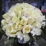White Rose and Stephanotis bridal bouquet.