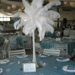 Fluffy feather centerpiece.