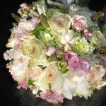 Beautiful garden mix bouquet in blush and green.