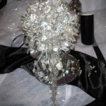 All crystal bouquet. Talk about &quot;bling&quot;!