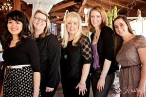 The ladies of Photography by Kristen, Event Floral, and Cake Creations who made it happen! Photo by: Photography by Kristen