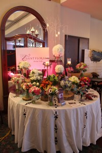 Collection of bouquets and centerpiece rentals.