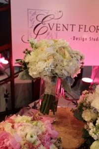 Abundant, ruffled bouquet of Hydrangea, Stock, and Mixed Garden Roses.