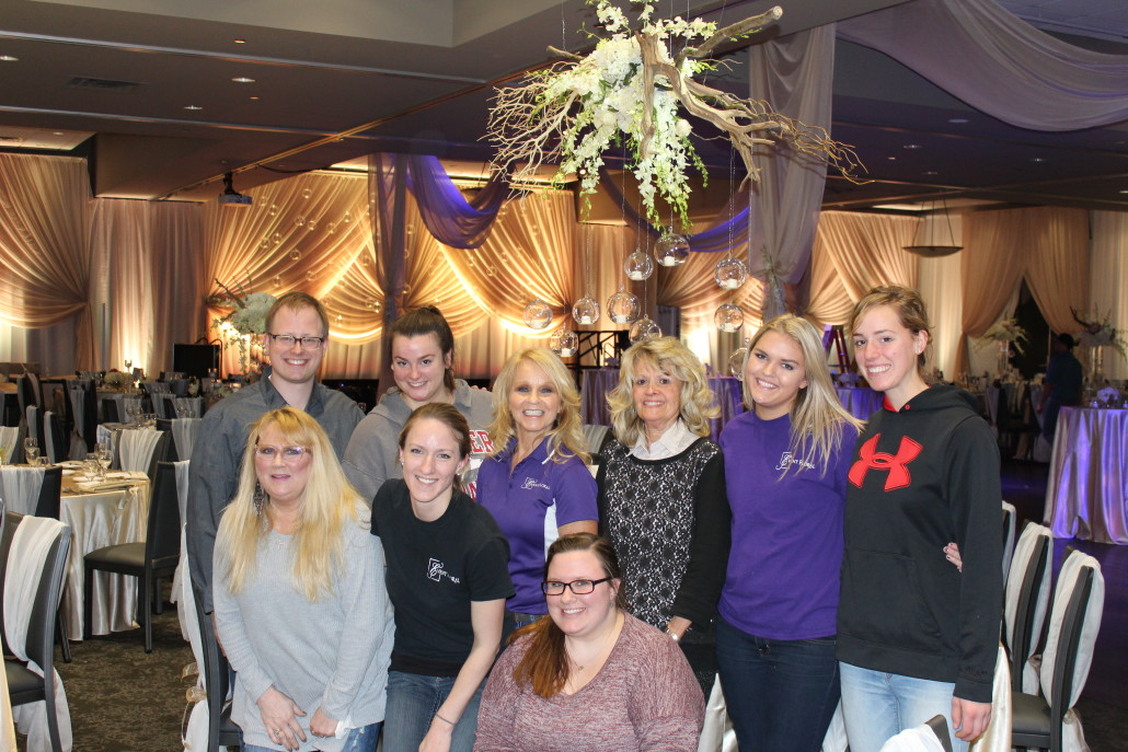 The Event Floral team who worked so hard to make this event a reality. Back row: Jordan Calgaro, Korissa Steger, Kim Dazey, Diane Didier-Adolphson, Hailey Holder and Annie Von Arx. Bottom Row: Sherry Farmer, Erin Stoffregen, Charlotte Schlossmann