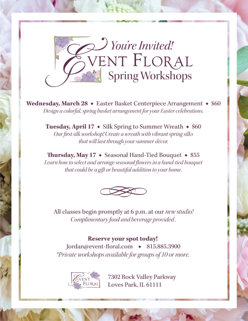 Blog event floral special event floral and design studio 2018 spring floral workshops junglespirit